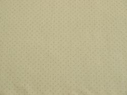 Látky Patchwork - Stříbrné tečky na smetanovém podkladu