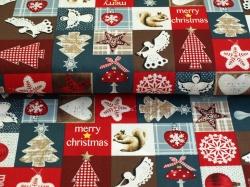 Látky Patchwork - Vánoční motivy - Merry Christmas