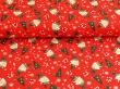 Látky Patchwork - Lišky na červeném podkladu