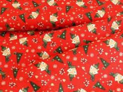 127006-5019 Lišky na červeném podkladu -