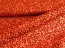 123546-0807 Ornamenty na červeném podkladu -