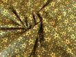 Látky Patchwork - Hvězdy na tmavě zeleném podkladu