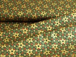 900806-2060 Hvězdy na tmavě zeleném podkladu -