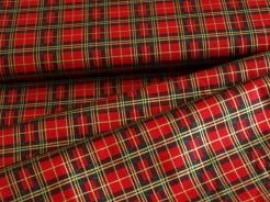 082737-0001 Skotská kostka- tmavě červená - Glitr