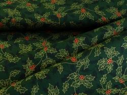 122349-1047 Listy cesmíny na tmavě zeleném podkladu -