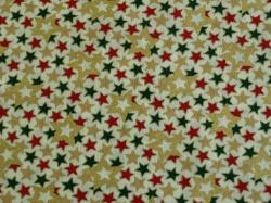 Látky Patchwork - Hvězdičky na bílém podkladu