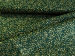 122341-0822 Zlaté listy na tmavě zeleném podkladu -