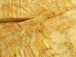 3353-206 Lístečky tvořící květy na žlutém podkladu -