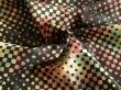 Látky Patchwork - Geometrické vzory na černém podkladu