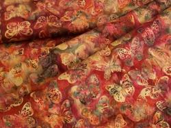3356-715 Motýli na tmavě červeném podkladu -