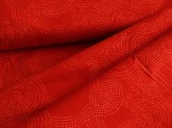 3357-407 Geometrické vzory na červeném podkladu -