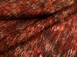 3357-401 Geometrické vzory na červeno-hnědém podkladu -