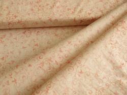 3356-408 Růžové ornamenty na bílém podkladu -