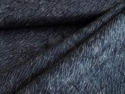 3353-614 Modré ornamenty na tm. modrém podkladu -
