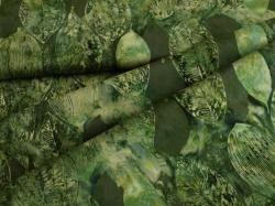 3346-811 Listy na brčálově zeleném podkladu -