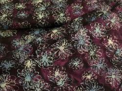 3356-507 Květy na tmavě fialovém podkladu -