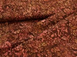 3345-322 Květy na vínově červeném podkladu -