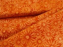 3352-218 Květy na oranžovém podkladu -