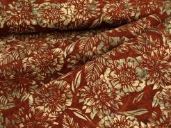 3353-313 Květy na hnědo-červeném podkladu -