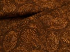 3352-318 Geometrické vzory na čokoládově hnědém podkladu -