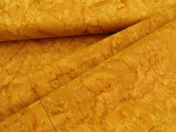 3018-432 Hořčicově žlutá batika -