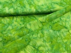 3018-315 Jarně zelená batika -
