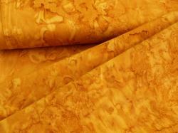 3018-566 Hnědo-žlutá batika -