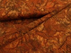 Látky Patchwork - Hnědá batika