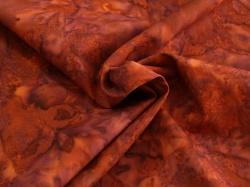Látky Patchwork - Hnědo-fialová batika