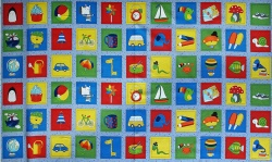 Látky Patchwork - Pexeso Memory Fun - STOF 01 -  panel 60 cm