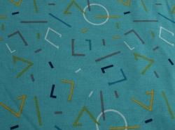 Látky Patchwork - Teplákovina s fleecem - geometrické tvary