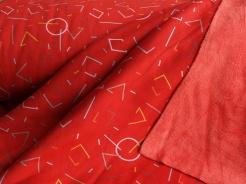128419-3007 Teplákovina s fleecem - geometrické tvary - Teplákovina s jemným fleecem na spodní straně