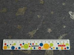 Látky Patchwork - Vesmír na tmavě šedém podkladu