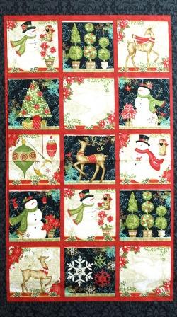 Látky Patchwork - Panel 60 cm - vánoční motivy
