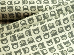 21-111 Medvědi na šedém podkladu -