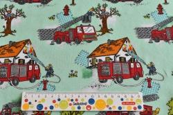 Látky Patchwork - Látka s motivem hasičů