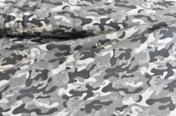 129365-3002 Maskáčovina - šedá -  maskáčovina s glitry
