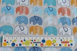Látky Patchwork - Sloni