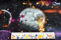 Látky Patchwork - Vesmír na černém podkladu II.