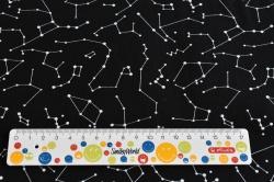 Látky Patchwork - Vesmír na černém podkladu III.