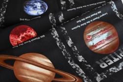 4801-397 Planety na černém podkladu  - Cena je za panel 0,6 m