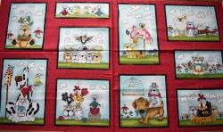 4703-638 Panel - Zvířátka   - Panel je možné kombinovat s látkou č. zboží 4703-639