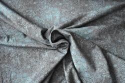 Látky Patchwork - Ornamenty na hnědém podkladu