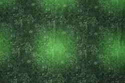 Látky Patchwork - Ornamenty na tm. zeleném podkladu