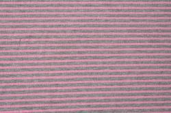 Látky Patchwork - Šedo-růžové proužky
