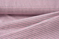 122031-0863 Šedo-růžové proužky -