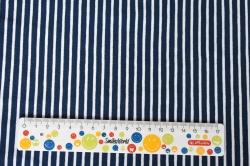 Látky Patchwork - Bílo-modré proužky