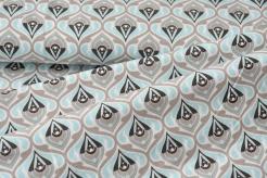 998421-0801 Ornamenty na sv. modrém podkladu -  TEMTEEMA - šatovka pro děti