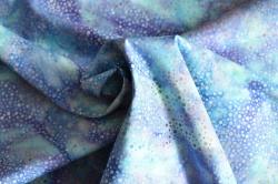 Látky Patchwork - Batika - modrá