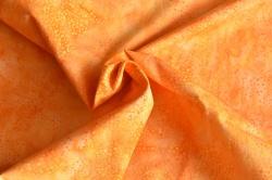 Látky Patchwork - Batika - oranžová